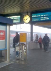 Raucherzone auf dem Bahnhof Fulda